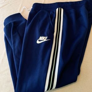 Nike mens L blue joggers sweats sweatpants